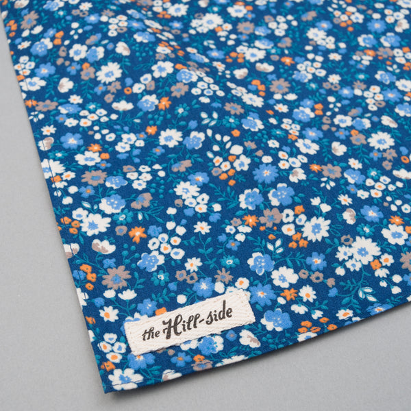 The Hill-Side - Small Flowers Print Bandana, Blue - BA1-450 - image 1