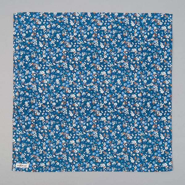 The Hill-Side - Small Flowers Print Bandana, Blue - BA1-450 - image 2