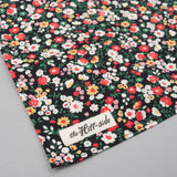 The Hill-Side - Small Flowers Print Pocket Square, Black - PS1-451 - image 3