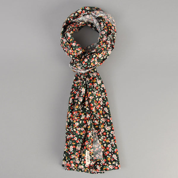 The Hill-Side - Small Flowers Print Scarf, Black - SC1-451 - image 1