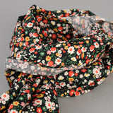 The Hill-Side - Small Flowers Print Scarf, Black - SC1-451 - image 2