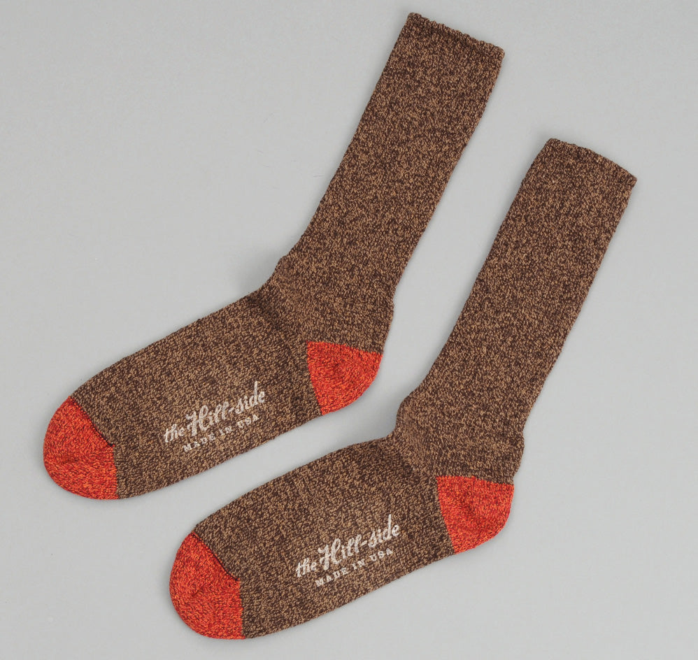 The Hill-Side - Socks, Brown / Red - SX1-05 - image 1