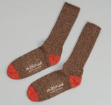 The Hill-Side - Socks, Brown / Red - SX1-05