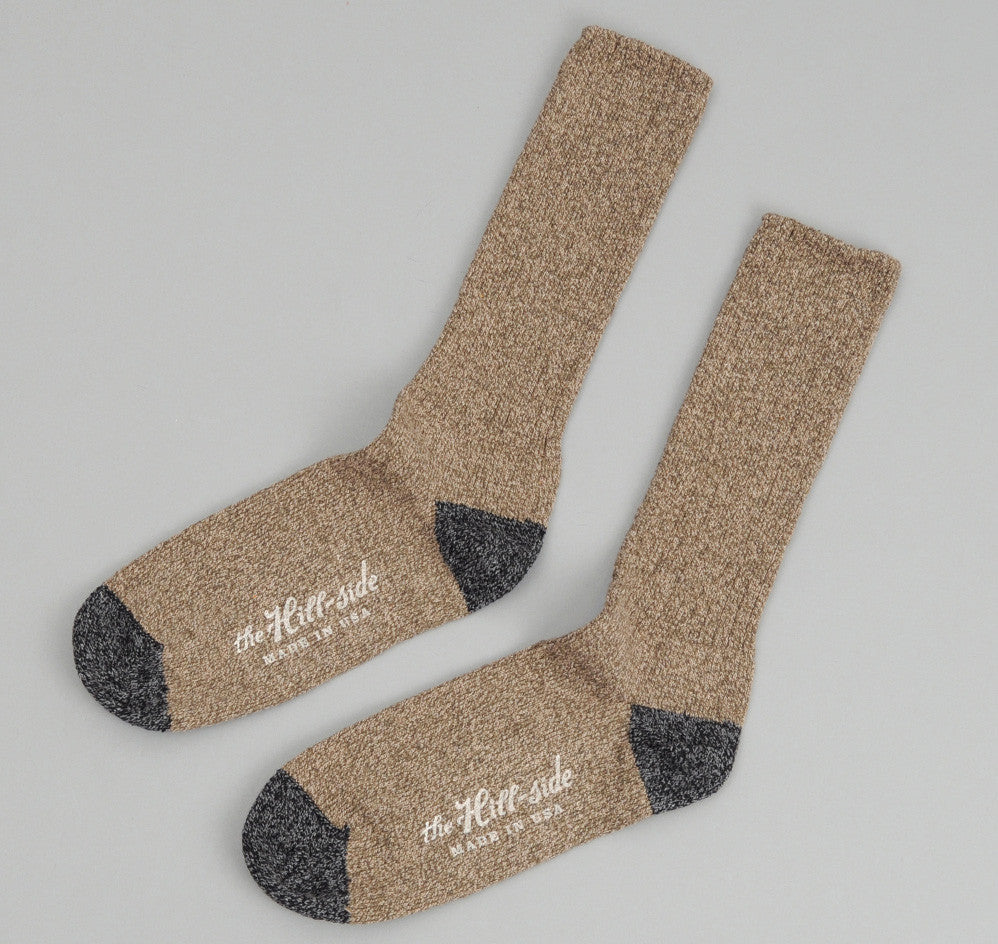 The Hill-Side - Socks, Olive / Charcoal - SX1-03 - image 1
