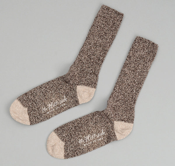 The Hill-Side - Socks, Salt & Pepper / Beige - SX1-01 - image 1