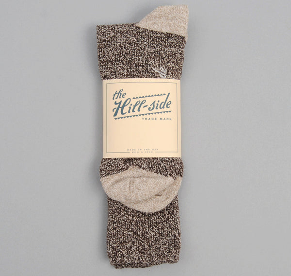 The Hill-Side - Socks, Salt & Pepper / Beige - SX1-01 - image 2