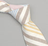 The Hill-Side - Square-End Tie, Multi Stripe Oxford, Blue/Pink/Yellow - ST1-253