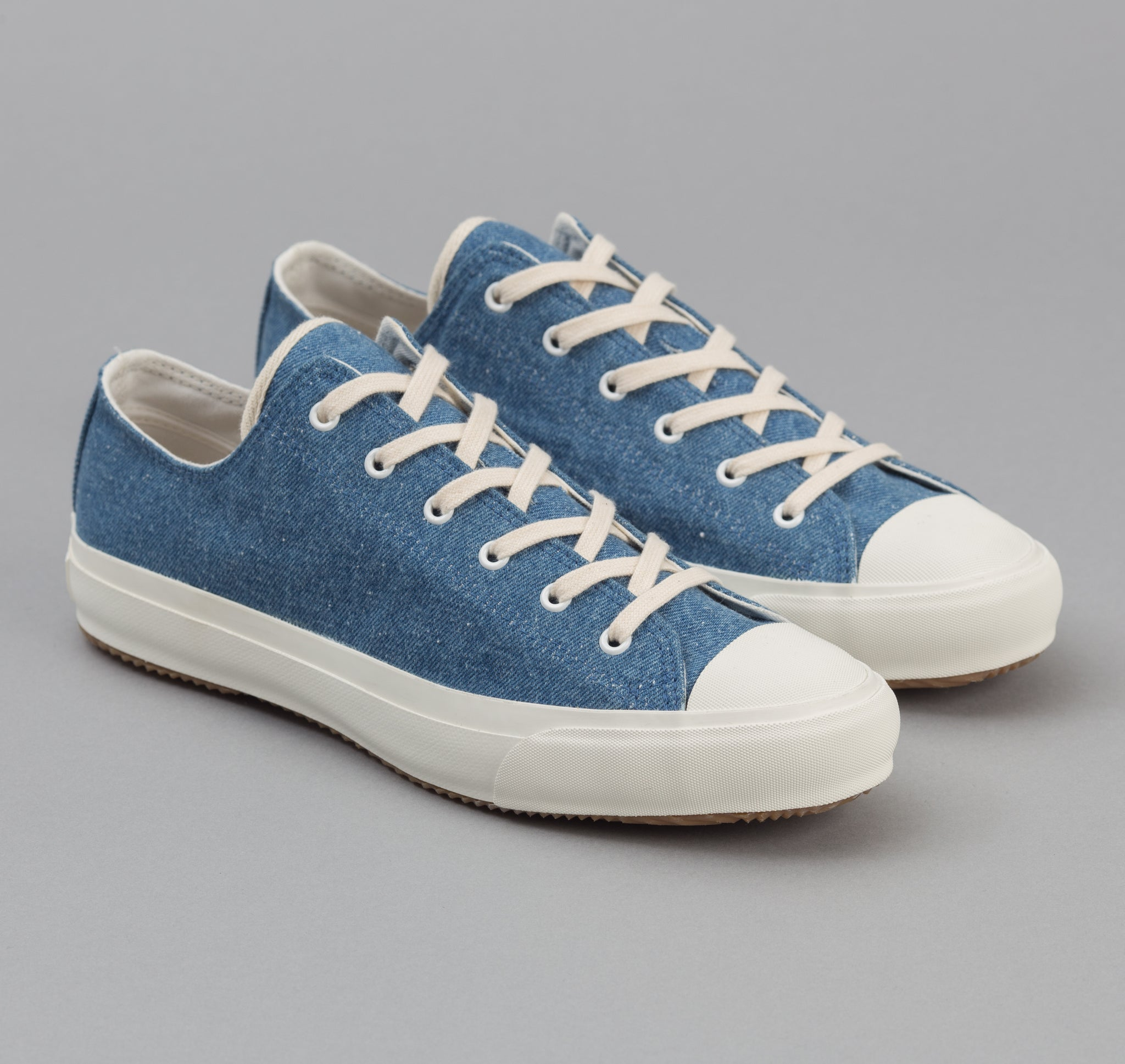 The Hill-Side - Standard Low Top, Pale Indigo Washed Denim - SN2-325 - image 1