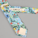 The Hill-Side - Standard Pointed Tie, Toucans & Bananas Print, Blue - PT1-456 - image 3