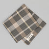 The Hill-Side Sulphur-Dyed Check Pocket Square, Grey/Brown