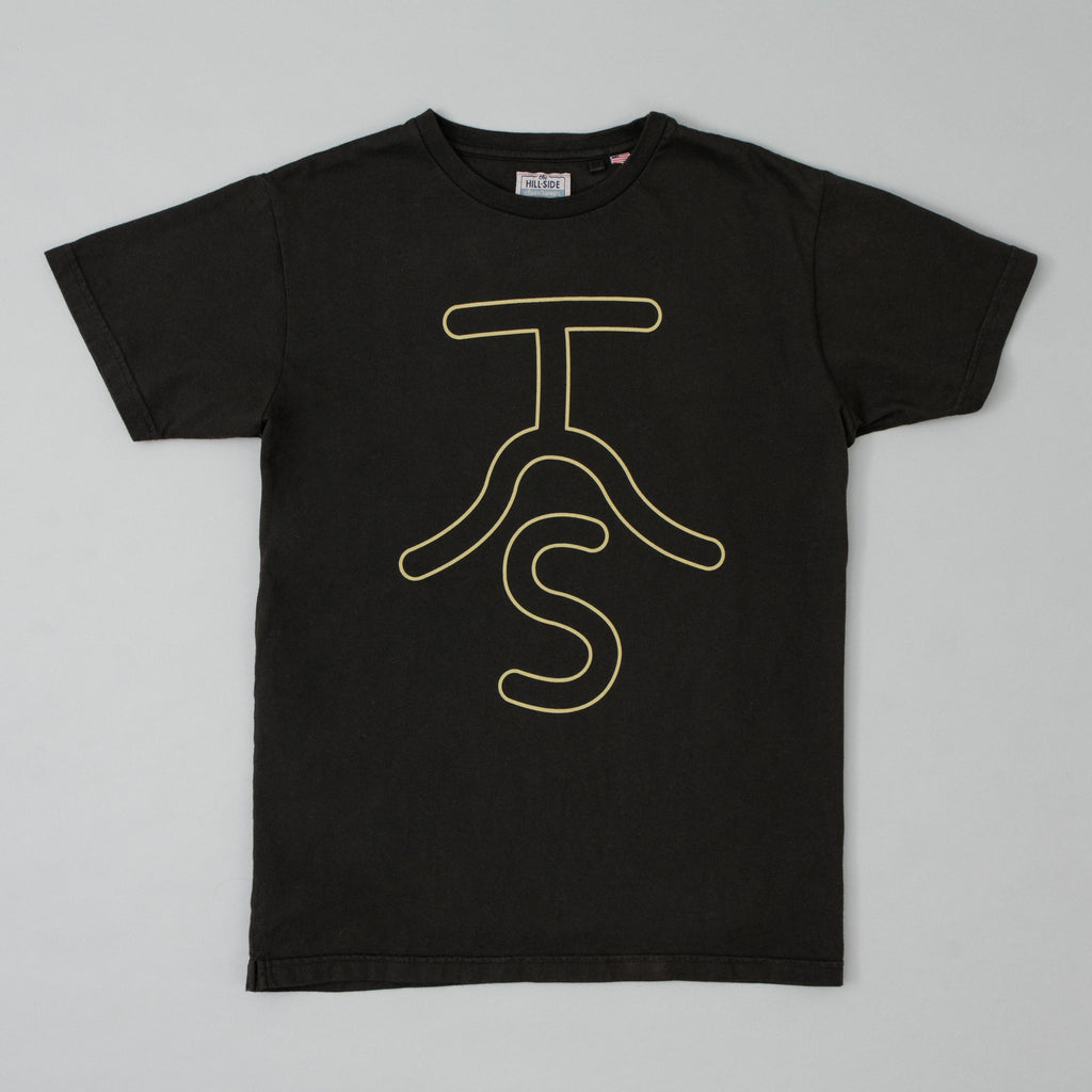 The Hill-Side - T-Shirt, Neon Rancher Logo, Faded Black w/ 3M Reflective Print - TS1-0804 - image 1