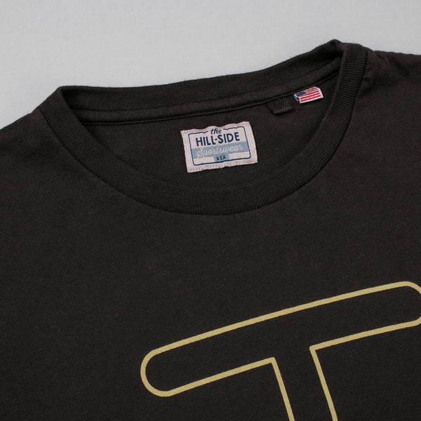 The Hill-Side T-Shirt, Neon Rancher Logo, Faded Black w/ 3M Reflective Print