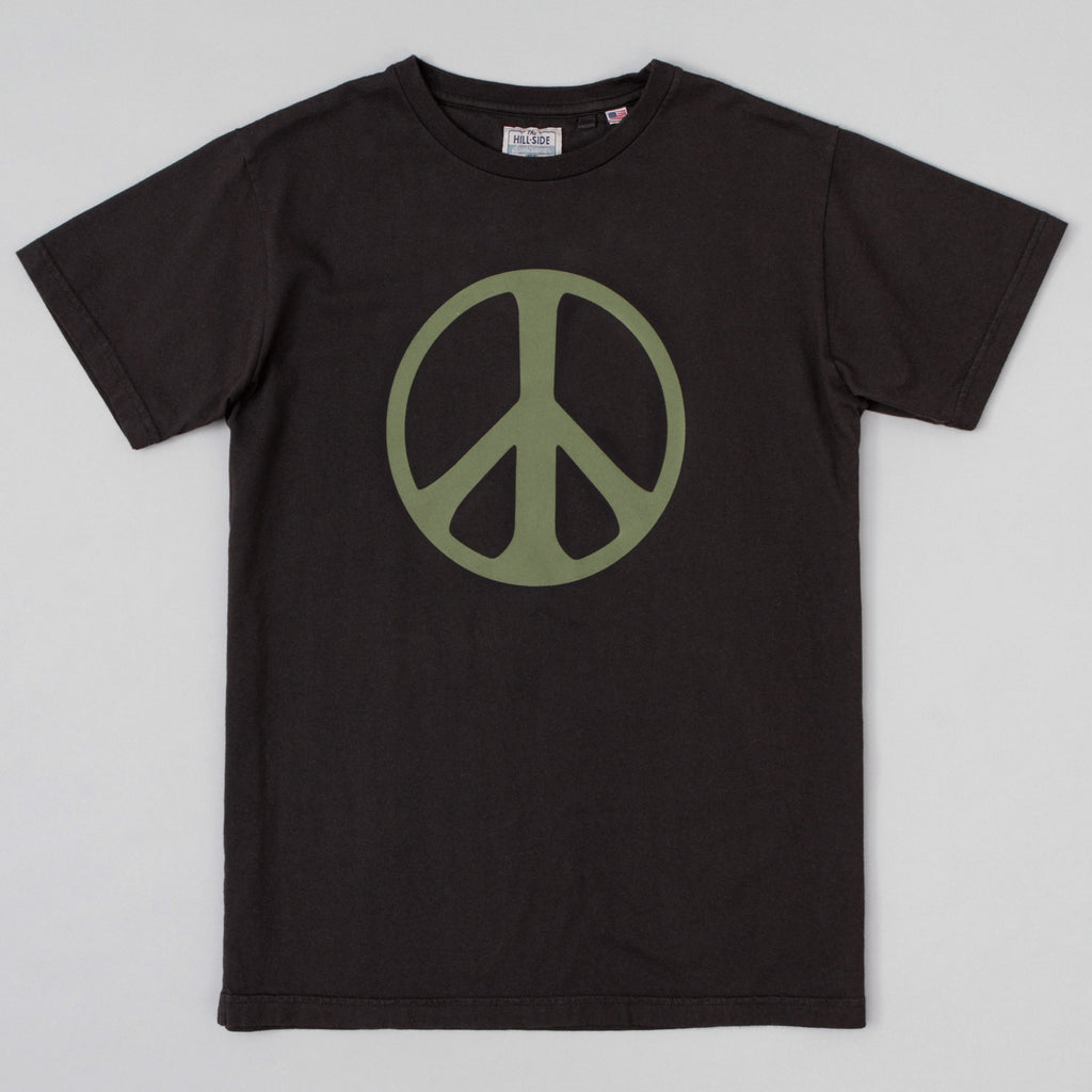 The Hill-Side - T-Shirt, Peace Sign, Faded Black - TS1-1104 - image 1
