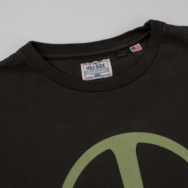 The Hill-Side - T-Shirt, Peace Sign, Faded Black - TS1-1104 - image 2