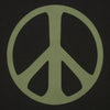 The Hill-Side - T-Shirt, Peace Sign, Faded Black - TS1-1104 - image 3