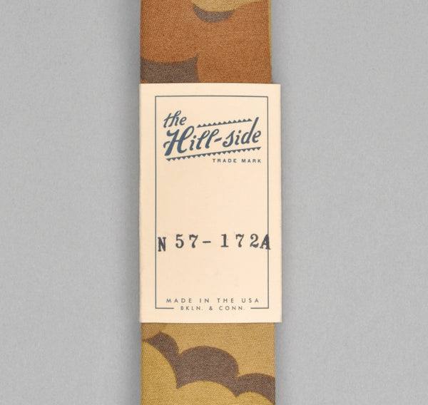 The Hill-Side - TAN CLOUD CAMOUFLAGE TIE - N57-172A - image 2