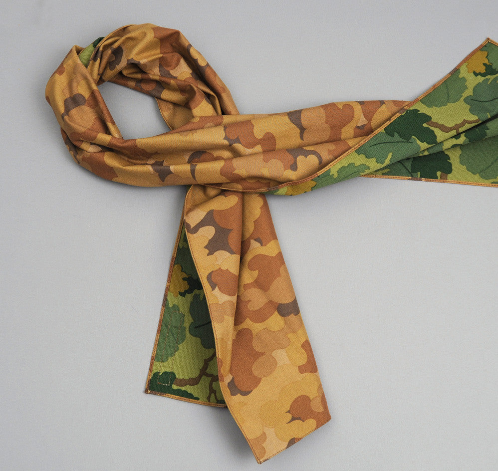 The Hill-Side - TAN CLOUD/MITCHELL DOUBLE CAMOUFLAGE SMALL SCARF - N56-172