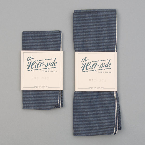 The Hill-Side - TH-S Mills Navy Warp Bandana, Hickory Stripe - BA1-372 - image 2