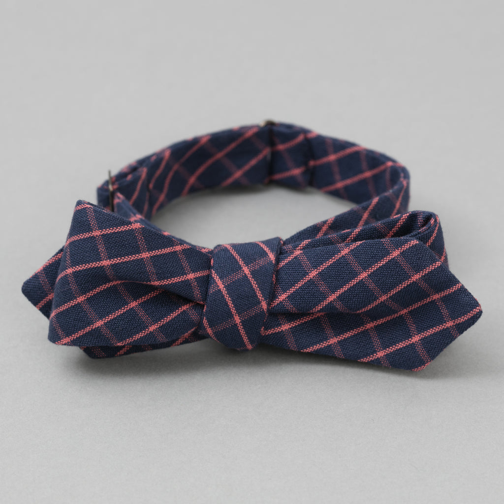 The Hill-Side - TH-S Mills Navy Warp Bow Tie, Windowpane Check - BT1-369 - image 1