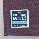 The Hill-Side - TH-S Mills Navy Warp Pocket Square, Coral Weft Chambray - PS1-368 - image 3