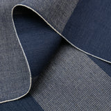 The Hill-Side - TH-S Mills Navy Warp Pocket Square, Giant Border Stripe - PS1-367