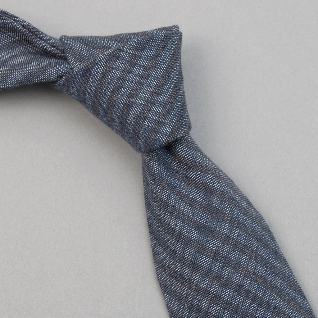 The Hill-Side - TH-S Mills Navy Warp Tie, Hickory Stripe - PT1-372 - image 1
