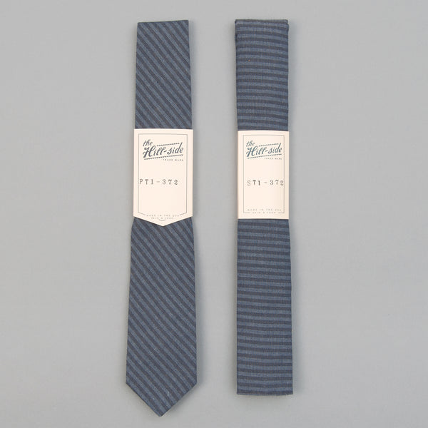 The Hill-Side - TH-S Mills Navy Warp Tie, Hickory Stripe - PT1-372 - image 2
