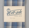 The Hill-Side - TH-S Mills Selvedge Waterfall Plaid Chambray Scarf, Light Indigo / Grey - SC1-296 - image 2