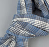 The Hill-Side - TH-S Mills Selvedge Waterfall Plaid Chambray Scarf, Light Indigo / Grey - SC1-296 - image 3