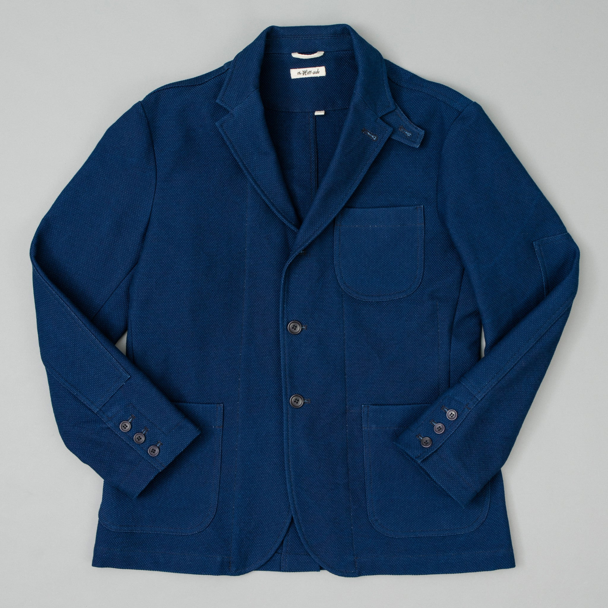 The Hill-Side - Tailored Jacket, Selvedge Lightweight Indigo Sashiko - JK1A-244 - image 1