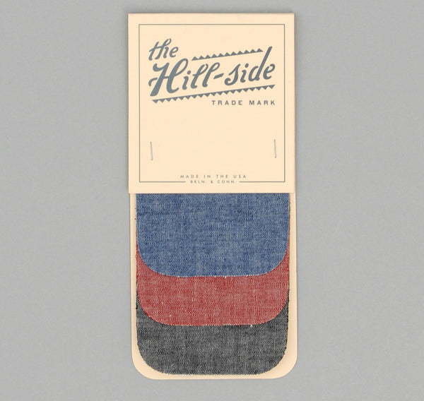 The Hill-Side Three Chambrays Iron-On Patches