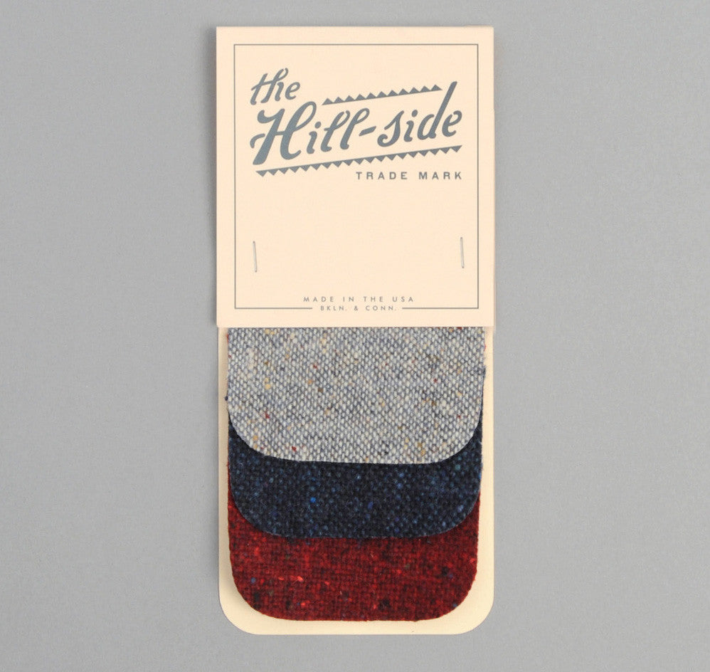 The Hill-Side - Three Donegal Tweeds Iron-On Patches - PA1-908 - image 1