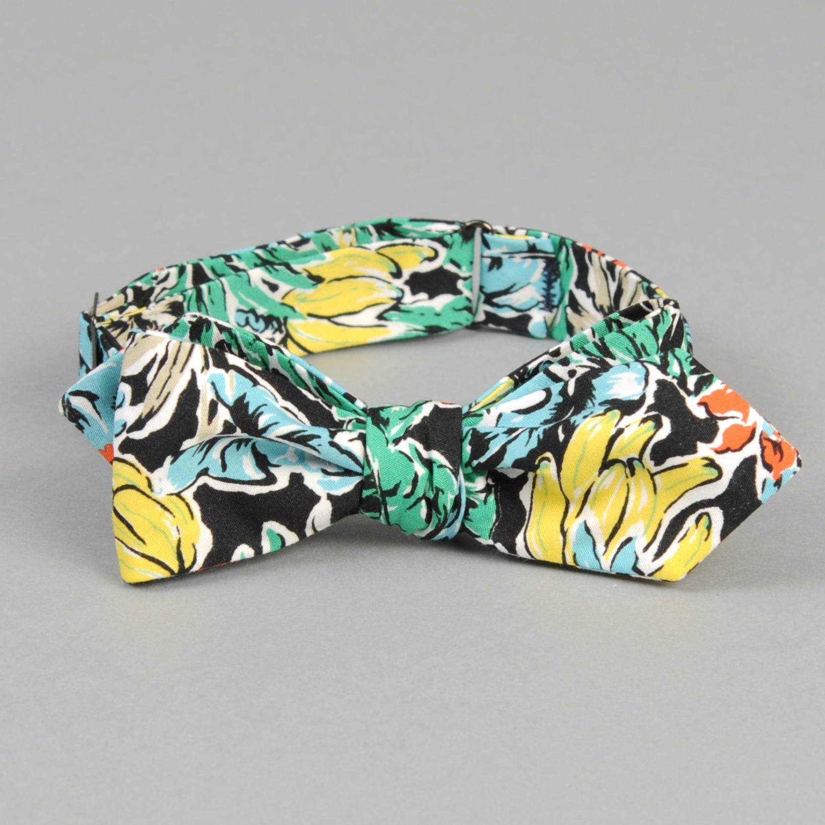 The Hill-Side - Toucans & Bananas Print Bow Tie, Black - BT1-457 - image 1