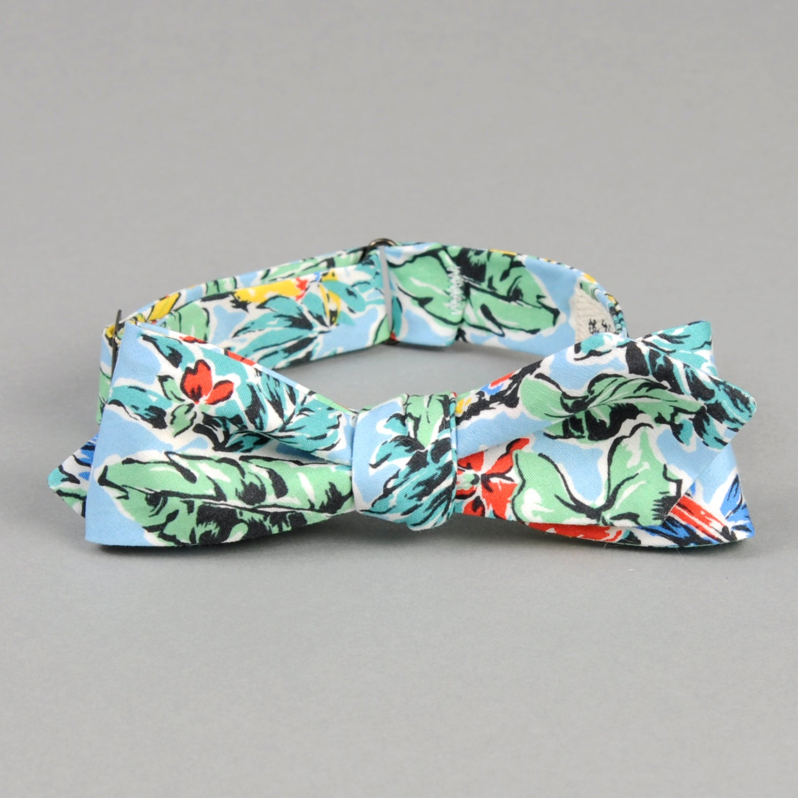 The Hill-Side - Toucans & Bananas Print Bow Tie, Blue - BT1-456 - image 1