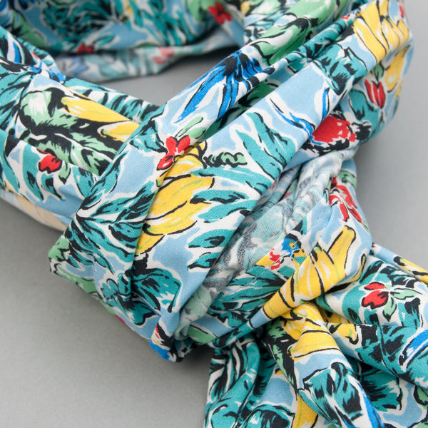 The Hill-Side - Toucans & Bananas Print Scarf, Blue - SC1-456 - image 2