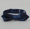 The Hill-Side - Tropical Leaves Half-Discharge Print Bow Tie, Indigo / White - BTS-077 - image 1
