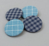 The Hill-Side - Two Blue Checks Pin-Back Buttons - PB1-12 - image 2
