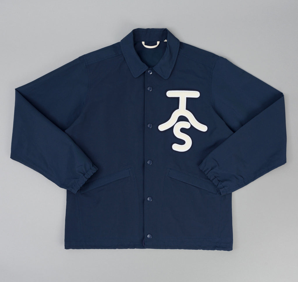 The Hill-Side - Ueno Jacket, Navy 60/40 Grosgrain w/ Rancher Logo Chenille Patch - JK9-351A - image 1
