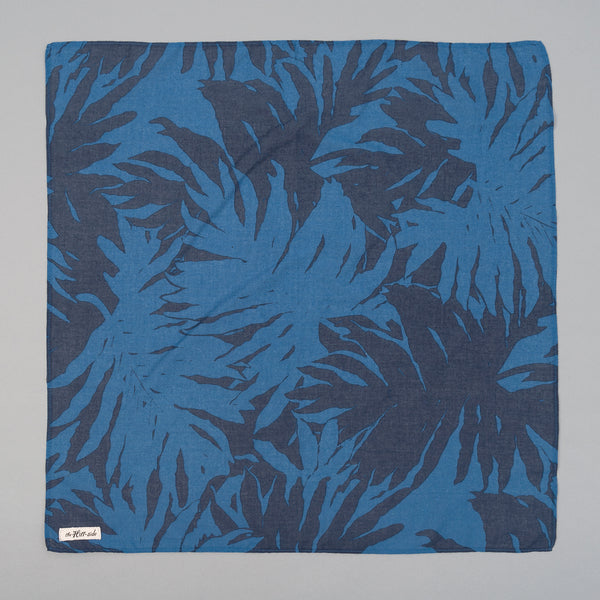 The Hill-Side - Ultralight Palm Leaves Bandana, Blue - BA1-441 - image 1
