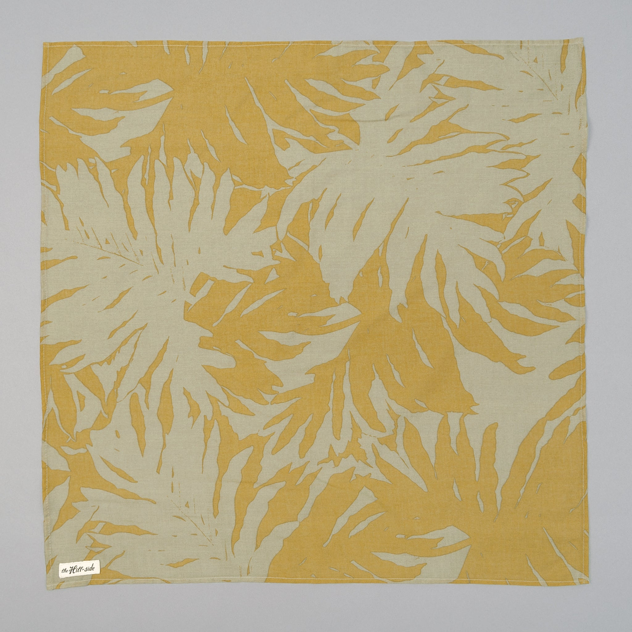 The Hill-Side Ultralight Palm Leaves Bandana, Mustard