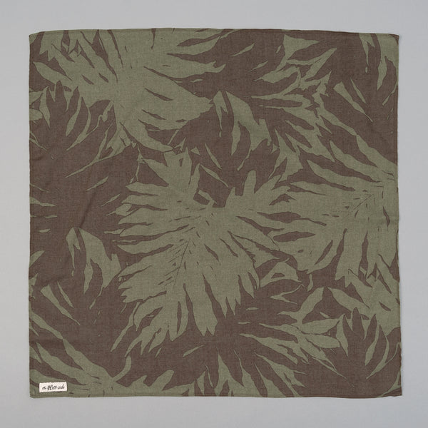 The Hill-Side - Ultralight Palm Leaves Bandana, Olive - BA1-443 - image 1