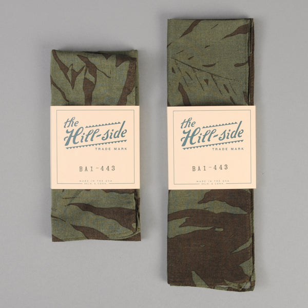 The Hill-Side - Ultralight Palm Leaves Bandana, Olive - BA1-443 - image 2