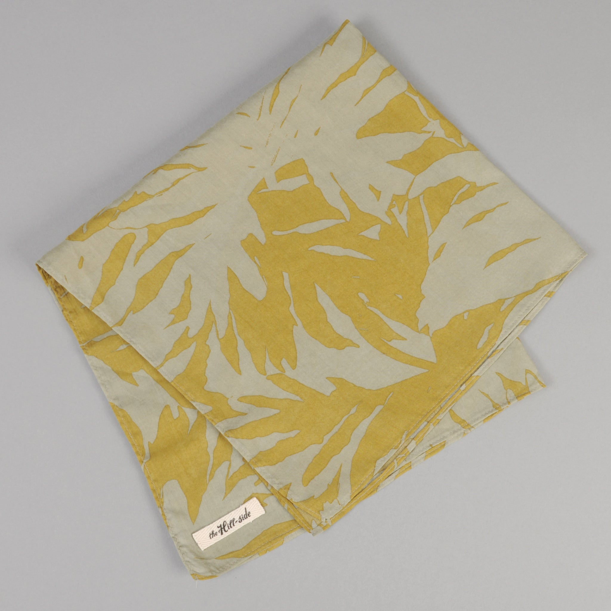 The Hill-Side - Ultralight Palm Leaves Pocket Square, Mustard - PS1-442 - image 1