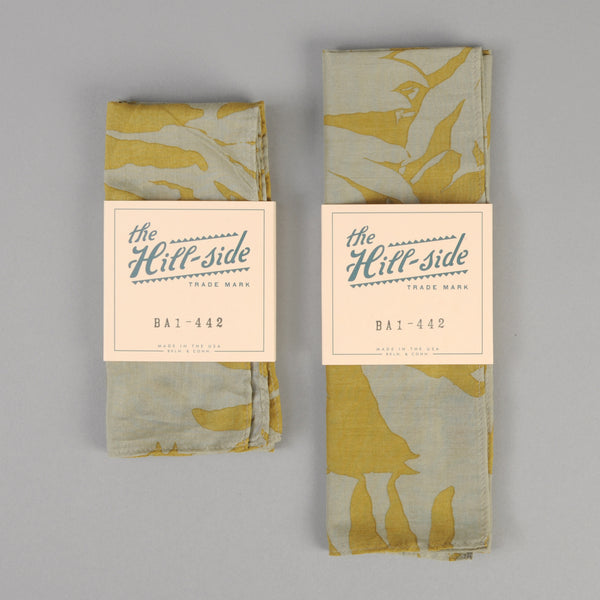 The Hill-Side - Ultralight Palm Leaves Pocket Square, Mustard - PS1-442 - image 2
