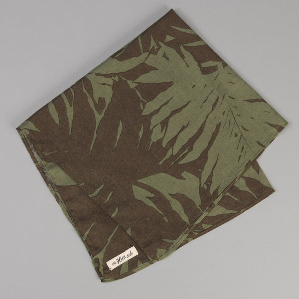 The Hill-Side Ultralight Palm Leaves Pocket Square, Olive