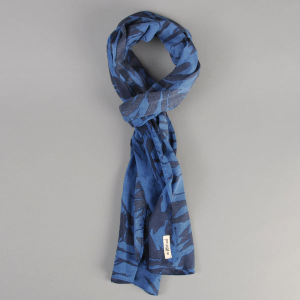 The Hill-Side - Ultralight Palm Leaves Scarf, Blue - SC1-441 - image 1