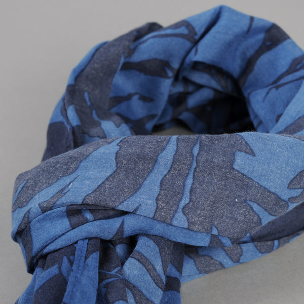The Hill-Side - Ultralight Palm Leaves Scarf, Blue - SC1-441 - image 2
