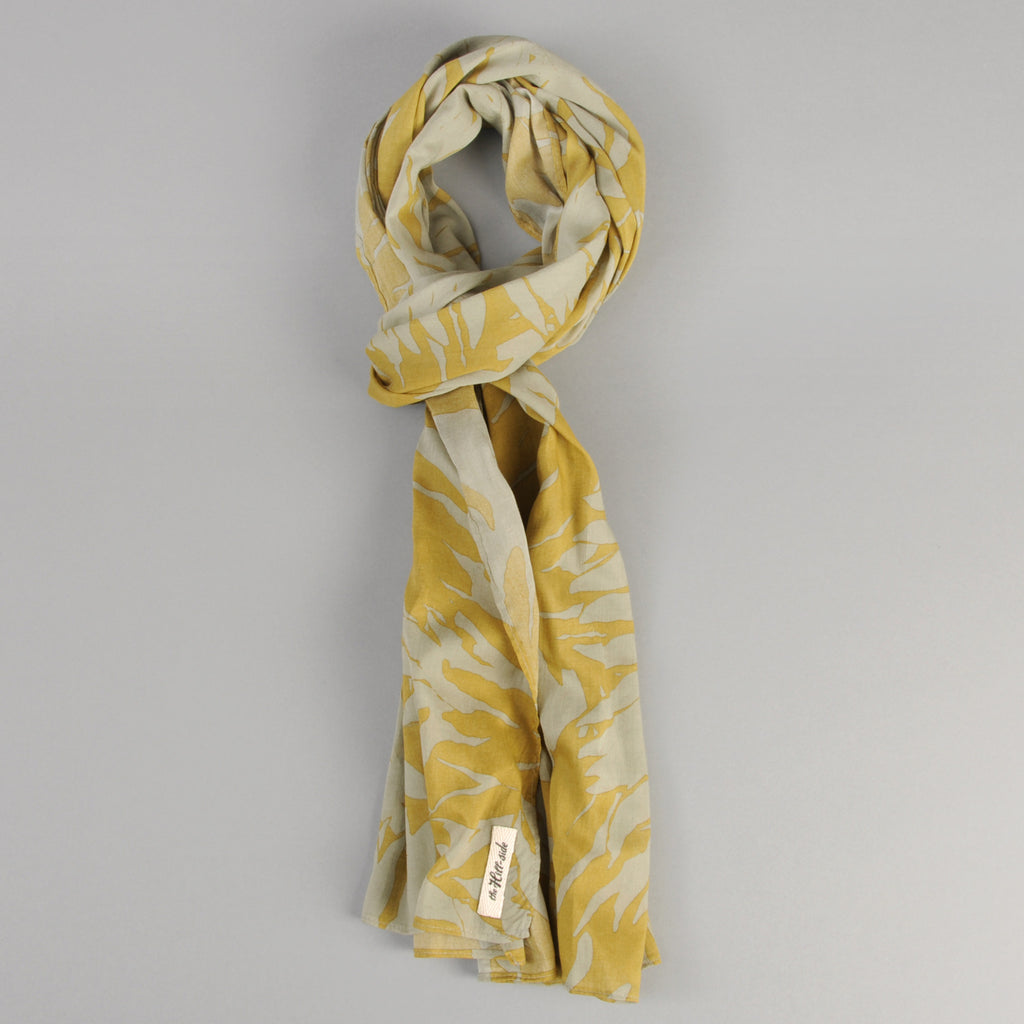 The Hill-Side - Ultralight Palm Leaves Scarf, Mustard - SC1-442 - image 1