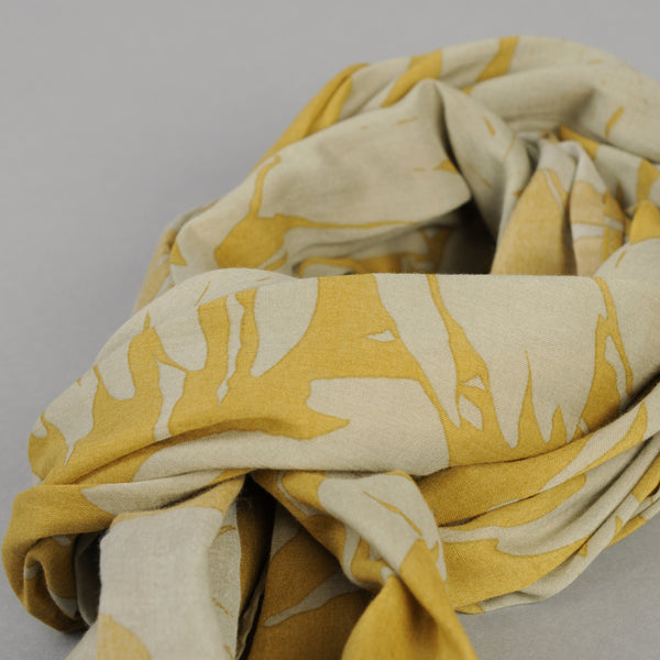 The Hill-Side - Ultralight Palm Leaves Scarf, Mustard - SC1-442 - image 2