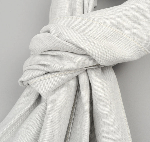 The Hill-Side - Variegated Warp Oxford Large Scarf, Light Grey - SC1-250 - image 2